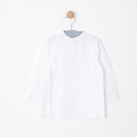 Erkek Bebek Uzun Kol Gömlek Beyaz (74 cm-3 yaş)