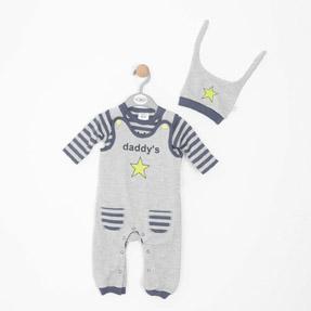 Erkek Bebek Salopet Set Çizgili (56 cm-86 cm)