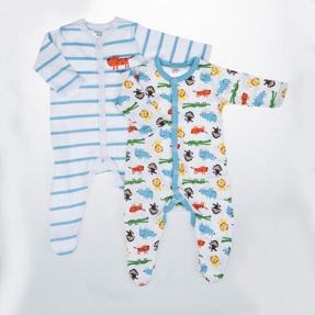 Erkek Bebek İkili Tulum Emprime Desen (56 cm-86 cm)