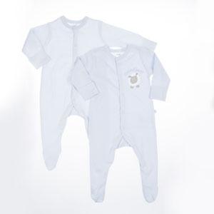 Erkek Bebek İkili Tulum Mavi (56-86 cm)