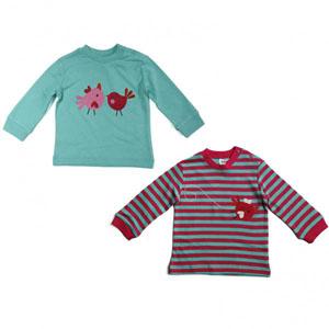 Kız Bebek Sweatshirt Set Çizgili (74 cm-3 yaş)