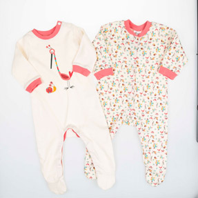 Kız Bebek İkili Tulum Emprime Desen (56-86 cm)