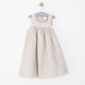 Kız Çocuk Uzun Kol Elbise Füme (1-6 yaş)