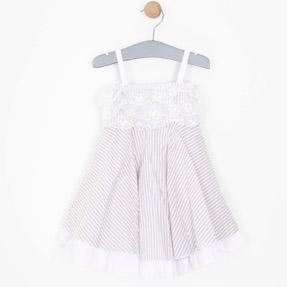 Kız Çocuk Uzun Kol Elbise Pembe (1-6 yaş)