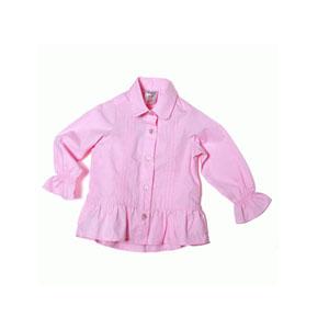Kız Çocuk Uzun Kol Gömlek Pembe (0-7 yaş)