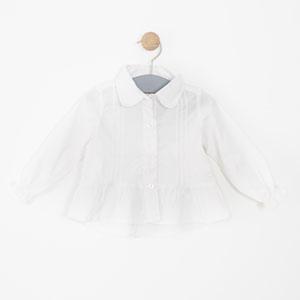 Kız Çocuk Uzun Kol Gömlek Beyaz (0-7 yaş)