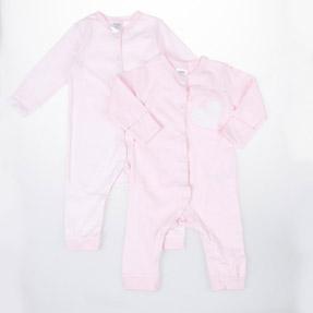 Kız Bebek İkili Tulum Pembe (56-86 cm)