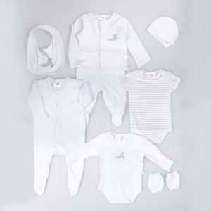 Bebek Hastane Çıkışı Sekizli Beyaz (50-56 cm)