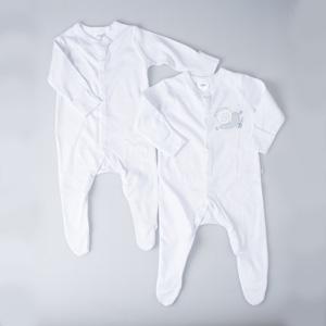 Bebek İkili Tulum Beyaz (56-86 cm)