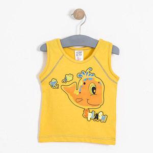 Erkek Bebek Kolsuz Tişört Koyu Sarı (74 cm-3 yaş)