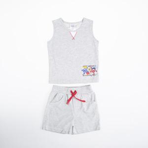 Erkek Bebek Alt Üst Örme Set Gri Melanj (74 cm-3 yaş)