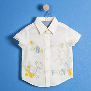 Erkek Bebek Kısa Kol Gömlek Su Mavi (74 cm-3 yaş)