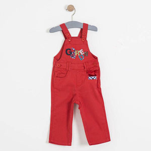Erkek Bebek Salopet Açık Kırmızı (74 cm-3 yaş)