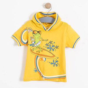 Erkek Bebek Kısa Kol Tişört Koyu Sarı (74 cm-3 yaş)