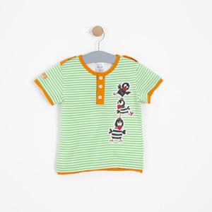 Erkek Bebek Kısa kol Tişört Yeşil (62 cm-3 yaş)