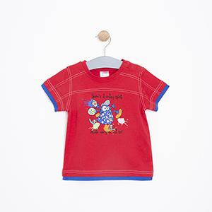 Erkek Bebek Tişört Kırmızı (1-3 yaş)
