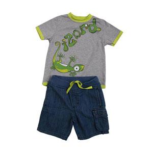 Erkek Bebek Alt Üst Örme Dokuma Set Gri (3-7 yaş)
