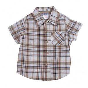 Erkek Çocuk Kısa Kol Gömlek Bej (74 cm-7 yaş)