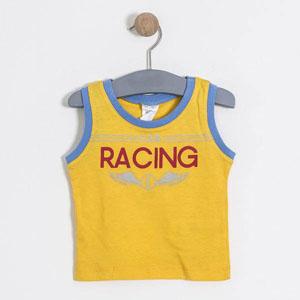 Erkek Bebek Kolsuz Tişört Şort Set Sarı (62 cm-3 yaş)