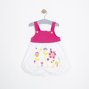 Kız Bebek Elbise Fuşya (74 cm-3 yaş)