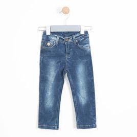Kız Bebek Kot Pantolon Koyu Mavi (74 cm-3 yaş)