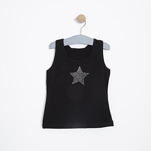 Kız Çocuk Atlet Siyah (3-7 yaş)