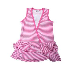 Kız Çocuk Kolsuz Elbise Neon Pembe (3-7 yaş)