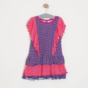 Kız Çocuk Kısa Kol Elbise Fuşya (3-7 yaş)