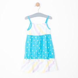 Kız Çocuk Elbise Koyu Turkuaz (3-7 yaş)