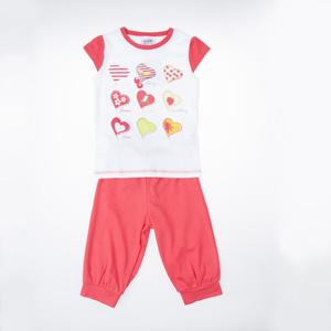 Kız Çocuk Pijama Takımı Beyaz (3-7 yaş)