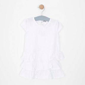 Kız Bebek Elbise Beyaz (0-3 yaş)