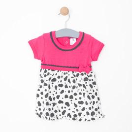 Kız Bebek Elbise Fuşya (62 cm-2 yaş)