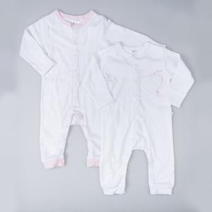 Kız Bebek İkili Tulum Set Puantiye Desen (0-2 yaş)