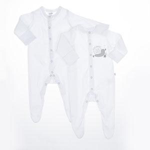 Bebek İkili Tulum Set Beyaz (0-2 yaş)