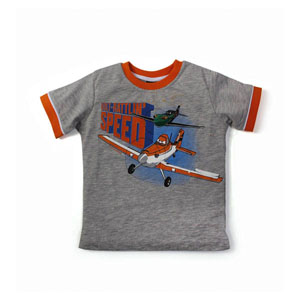 Disney Planes Erkek Çocuk Kısa Kol T-Shirt Gri Melanj (74 cm-7 yaş)