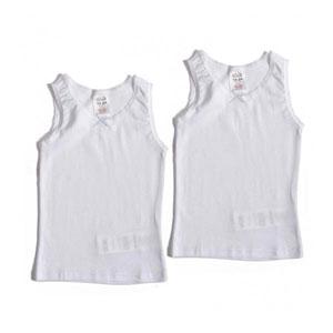Kız Çocuk İkili Atlet Set Beyaz (92 cm-116 cm)