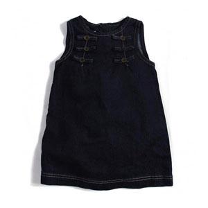Kız Çocuk Kolsuz Elbise Lacivert (3-7 yaş)