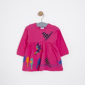 Kız Çocuk Elbise Fuşya (74 cm-7 yaş)