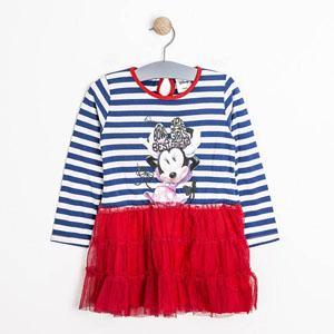 Disney Minnie Kız Çocuk Uzun Kol Elbise Marine (74 cm-7 yaş)