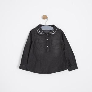Kız Çocuk Gömlek Siyah (3-7 yaş)