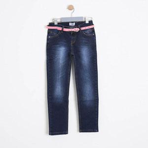 Kız Çocuk Kot Pantolon Koyu Mavi (8-12 yaş)