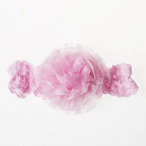 Pink Flowers Kız Bebek Saç Bandı Toz Pembe