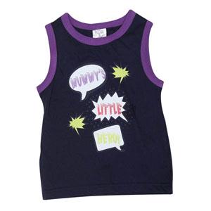 Pop Art Erkek Çocuk Kolsuz T-Shirt Lacivert (74 cm-7 yaş)