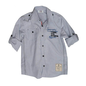 Erkek Çocuk Uzun Kol Gömlek Lacivert (7-12 yaş)