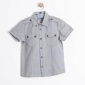 Erkek Çocuk Kısa Kol Gömlek Antrasit (7-12 yaş)