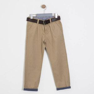 Erkek Çocuk Kemerli Pantolon Camel (7-12 yaş)