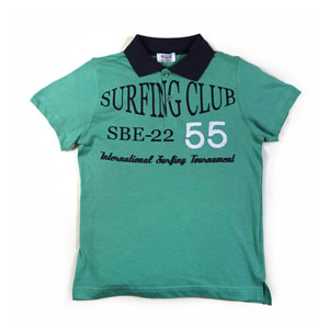 Surf Time Kısa Kol Erkek Çocuk T-Shirt Elma Yeşili (7-12 yaş)