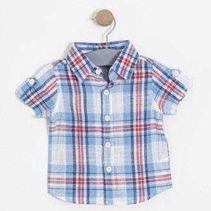 Erkek Bebek Kısa Kol Gömlek (56 cm-3 yaş)