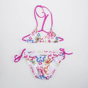 Kız Çocuk Bikini Emprime Desen (2-7 yaş)