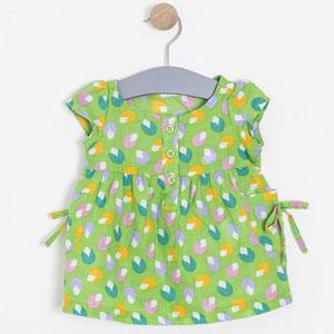 Kız Çocuk Kısa Kol Bluz Green (74 cm-7 yaş)